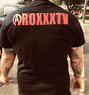 RoxxxTv Logo T-Shirt - back